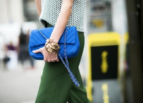 Cobalt Chanel bag by modates.gr