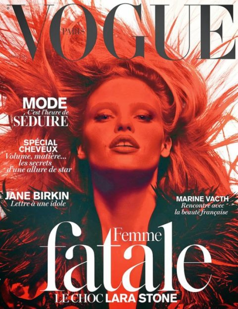 Covers lovers Vogue Paris March 2014 by modates.gr
