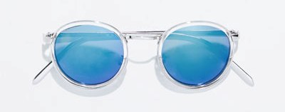 Denim dress blue sunglasses Zara by modates.gr