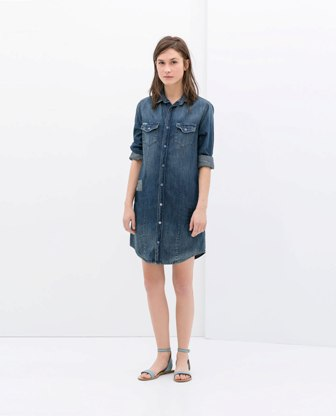 Denim dress by modates.gr