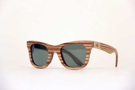 Handcrafted wooden eyewear
