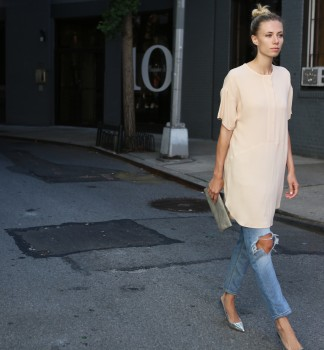 Long Dress…+…Skinny Jeans!