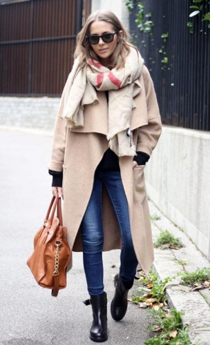 Day look nude coat by modates.gr