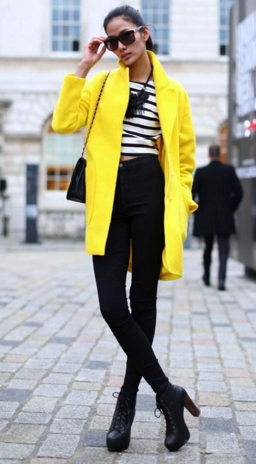 Day look: Yellow coat
